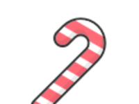 Candy cane red