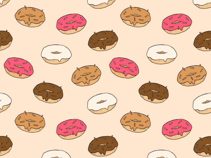 Donut pattern small