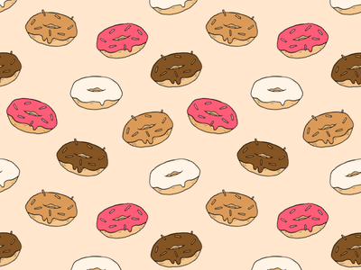 Donuts pastries repeat candies doughnuts sprinkles chocolate strawberry donuts pattern donut