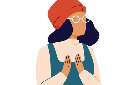 Work in progress... zissou drawing sketch sketchapp hands clapping glasses beanie illustration woman character girl