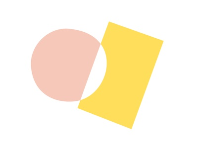 Pink Circle, Yellow Rectangle yellow pink blend modes malevitch kazimir blocks simple basic minimal circle rectangle dodge color shapes abstract