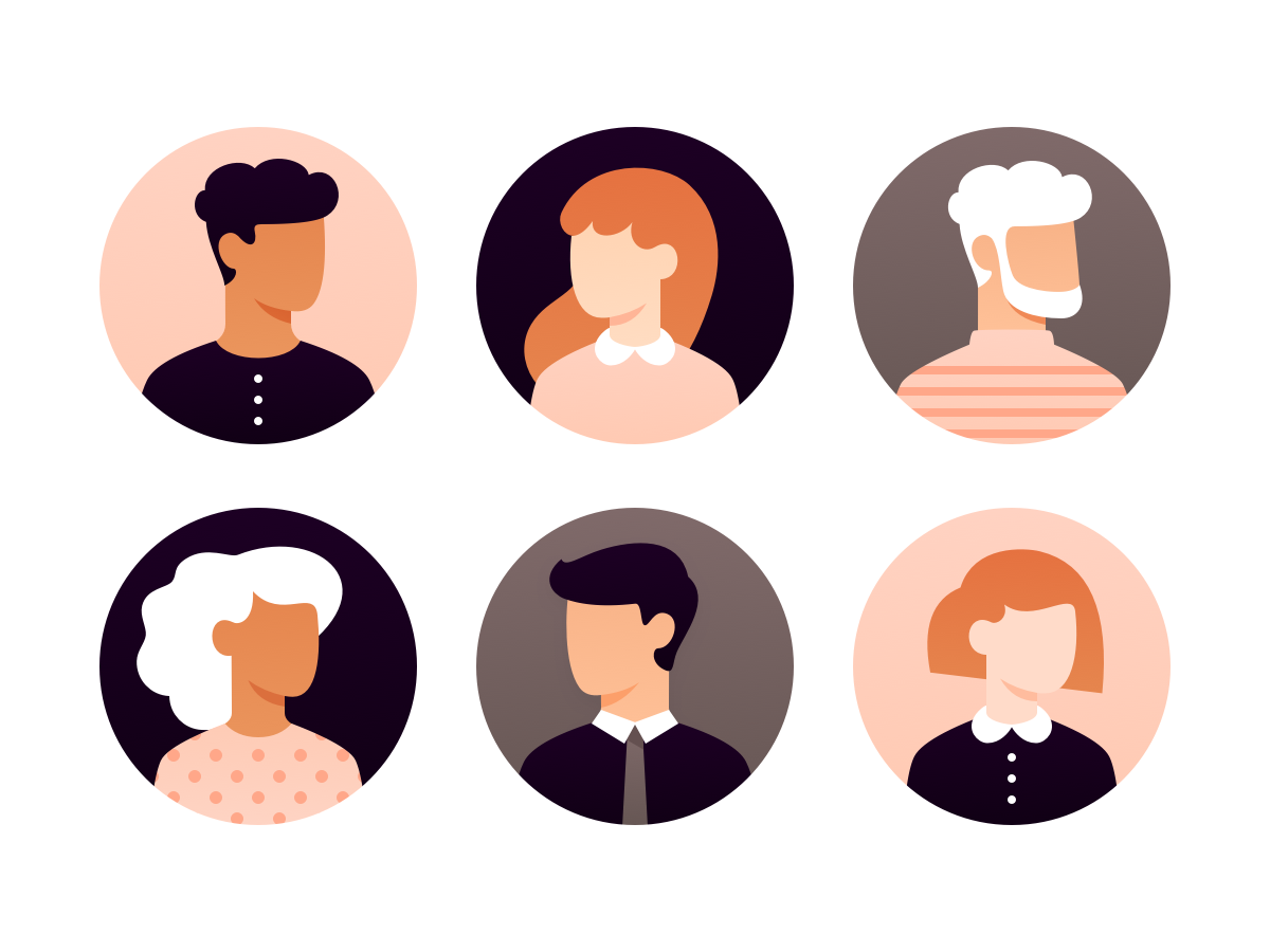 User avatars (Sketch file) character sketch free download freebie sketchapp sketch file hustle vector vectober illustration icon profile profile pictures icons users characters avatars ux ui