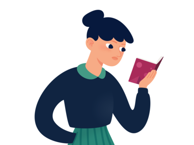 Girl reading focused fiction novel sketchapp woman walking three body reading problem parisian illustration girl funny french drawing design cixin liu character captivated book