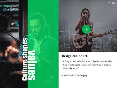 DSCVRH : Culture Shapes Values clean art graphic design minimal web website branding flat typography @brand ux desktop logo design ui @branding