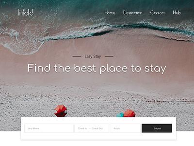 Find the Best Place to Stay ux desktop flat logo typography websites web website design website ui @photoshop design