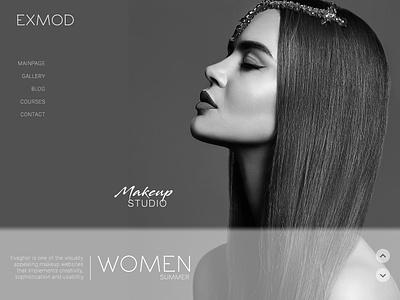 MAKEUP: Artist desktop logo homepage mainpage studio web website makeup ux ui typography @photoshop design