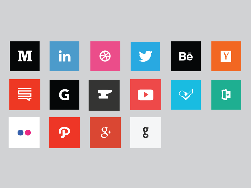 Social Media Icon Pack! foursquare youtube behance icons pack icon free social media medium dribbble twitter