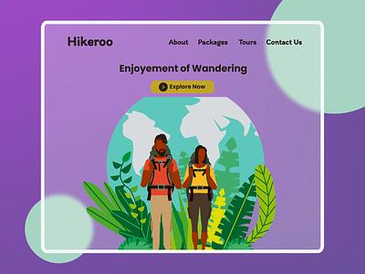 Hikeroo flat minimal web ui design
