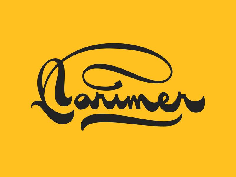 Larimer Street Script logotype lettering handlettering gothic yellow type sketch ligature typography script