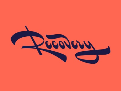 Recovery Lettering recovery lettering sketch ligature typography type script