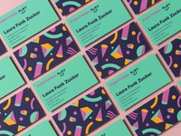 Funktional Play Business Cards building blocks pattern business card brand design branding visual identity playful play funktional