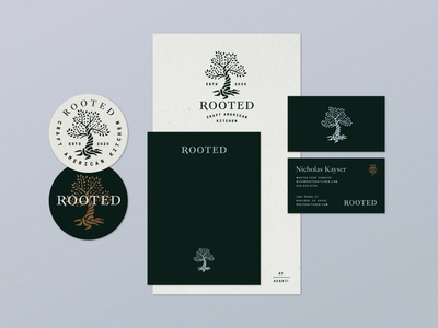 Rooted Restaurant Menu restaurant menu restaurant logo menu business logo business card tree logo tree rooted root