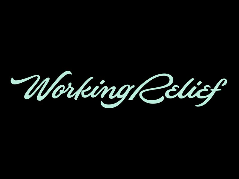 Working Relief Wordmark type flow flowy script handlettering lettering logo logotype wordmark topical relief working relief