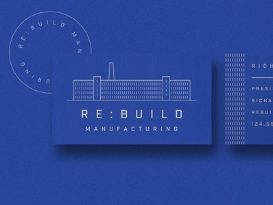 Manufacturing Business Card branding texture blue business card mockup business card design business card flat illustration illustration mill factory