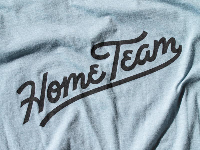 Home Team Script T-Shirt texture tshirt tee collaboration ligature hand lettering script lettering typogaphy type script team home team home