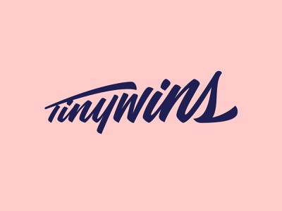 TinyWins Script Logo growth script font lettering type typography script lettering wordmark logo script