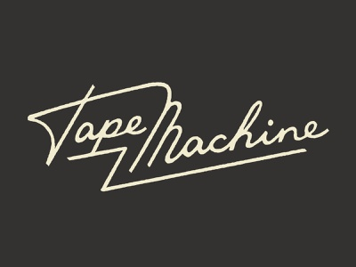 Tape Machine script logotype texture rough wordmark logotype handlettering lettering typography type script machine tape
