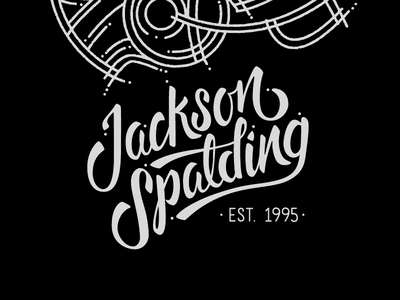 iPad cover colab type typography black white football helmet script brush js jackson spalding