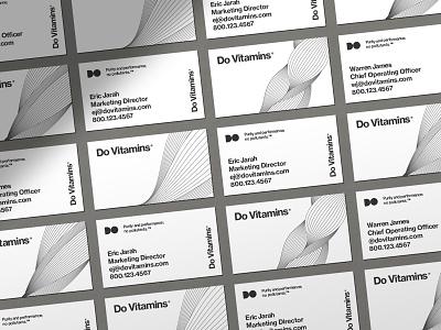 Do Vitamins Business Card Design visual id identity business card design business card illustration pattern fiber muscle vitamins