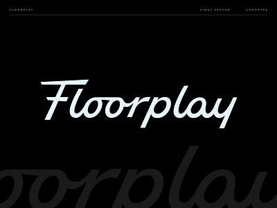Floorplay Wordmark vector type custom type hand lettering lettering logotype ligature logo typography script type