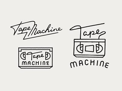 Tape Machine Logo Variations illustration animation film tape ligature logo typography script type