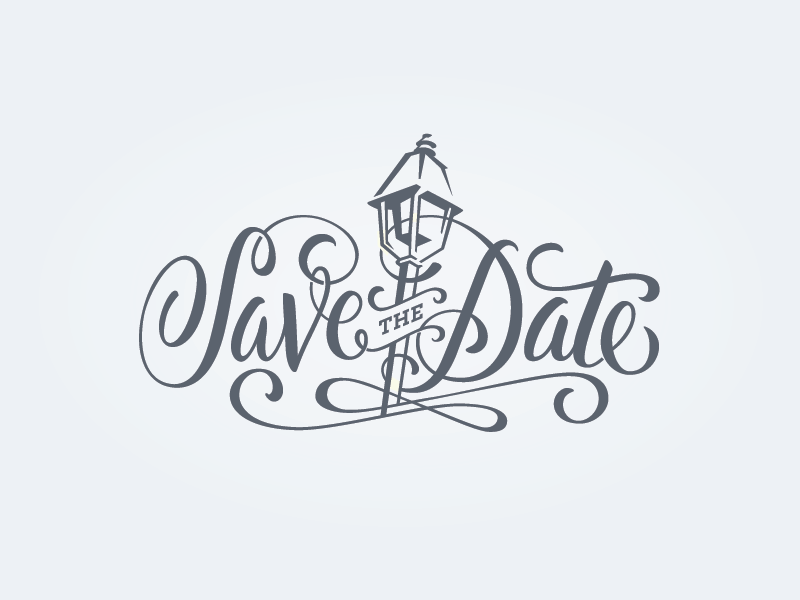 New Orleans Wedding Save The Date by Wells Dribbble – Save the Date Wedding