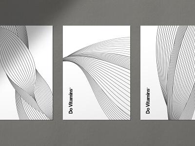 Do Vitamins Packaging Design typography minimal branding minimal packaging brand pattern line pattern fiber muscle illustration packaging visual id branding do vitamins