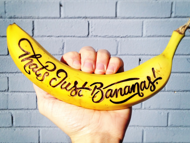 That's Just Bananas! bananas banana type typography script pen hand hand drawn lettering