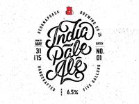 India Pale Ale label