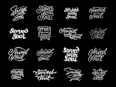 Served with Soul Thumbs hand lettering lettering hand drawn ligatures script typography type soul served