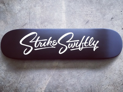 Strike Swiftly Deck ligatures army quote chromography script typography type swiftly strike