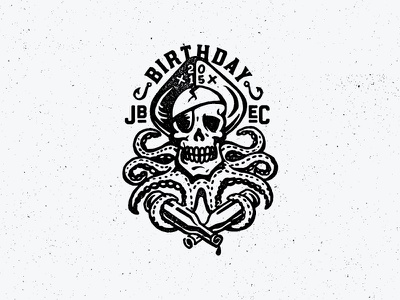 Fake Tattoo tentacles octopus bottles illustration texture 2015 pirate scull birthday