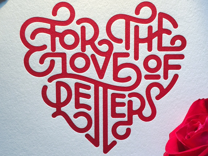 For the Love of Letters valentines heart ligatures typography type letters love