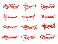 Resound Logotype Thumbnails