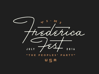Frederica Fest ligature script typography type usa atlanta monoline 50s logotype logo fest frederica