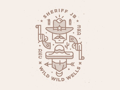 Birthday Showdown Badge west wild west cowboy sheriff showdown birthday badge