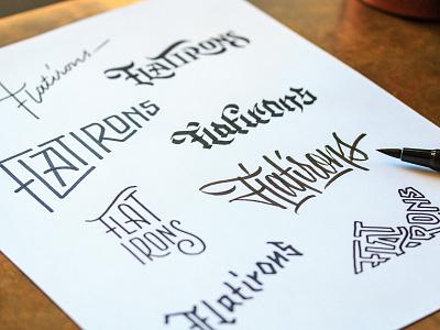 Flatirons Sketches ligatures typography type script thumbnails sketches flatirons flat