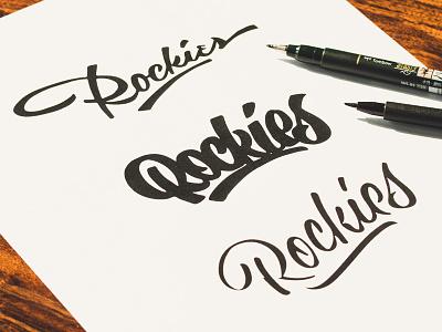 Rockies Sketches typography script type sketch rock denver colorado baseball rockies