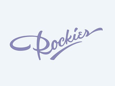 Rockies typography script type rock denver colorado baseball rockies