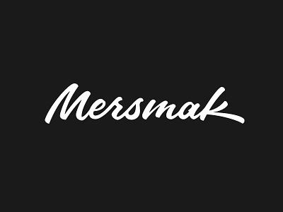 Mersmak Logotype lettering brush pen script typography type sketches word mark logotype mersmak