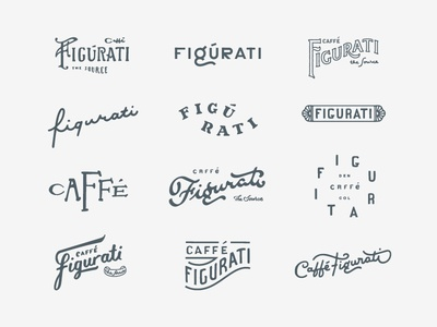 Caffe Figurati Sketches sketches sketch layout ligature script typography type italian figurati coffee caffe cafe