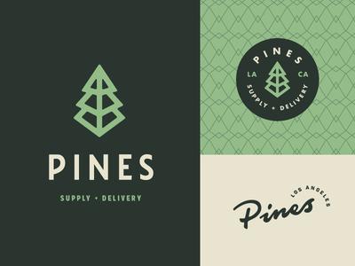 Pines Brand branding brand cannabis pine green sans-serif typography type wordmark logotype logo pines