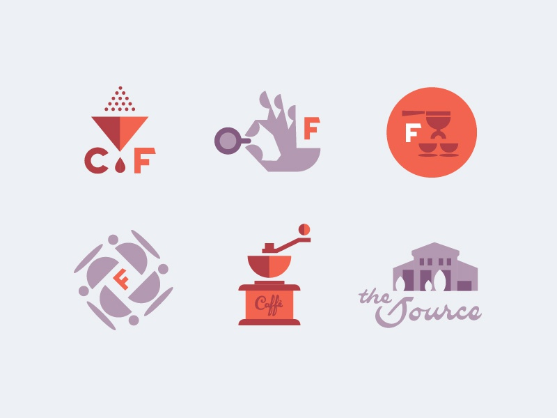 Caffe Figurati brand badges illustration monogram badge branding brand icon layout italian figurati coffee caffe cafe