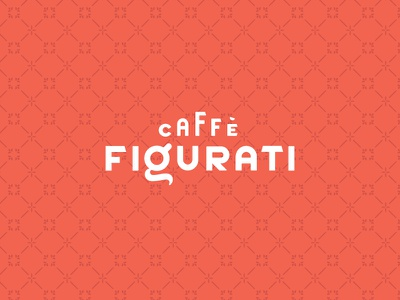 Caffe Figurati Logotype & Brand Pattern typography type branding brand italian figurati coffee caffe cafe