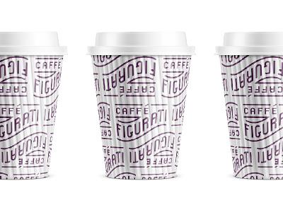 Figurati Cup Pattern coffee cup pattern typography type branding brand italian figurati coffee caffe cafe