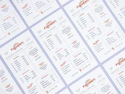 Caffe Figurati Menu Design industry denver layout coffee menu cafe caffe figurati