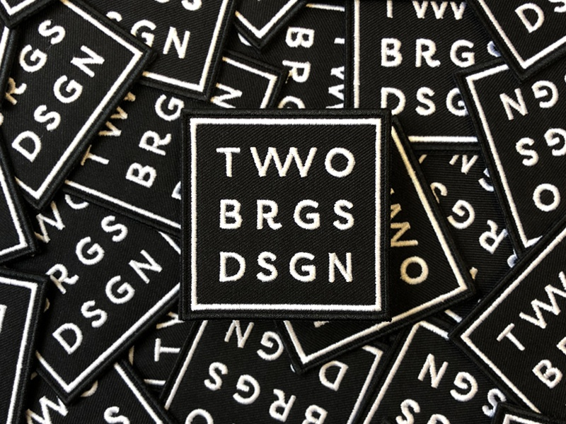 Two Bridges Design Patches icon logo square badge patch two bridges bridges two