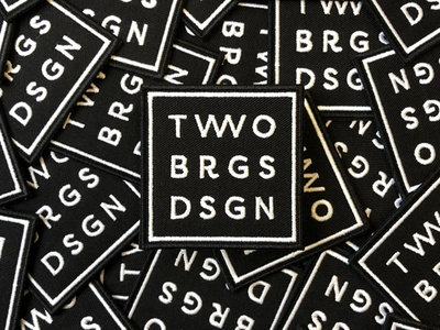 Two Bridges Design Patches icon logo square badge patch two bridges bridges two