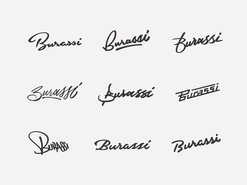 Burassi Script Concepts sketch hand lettering lettering exploration thumbnails type concepts script