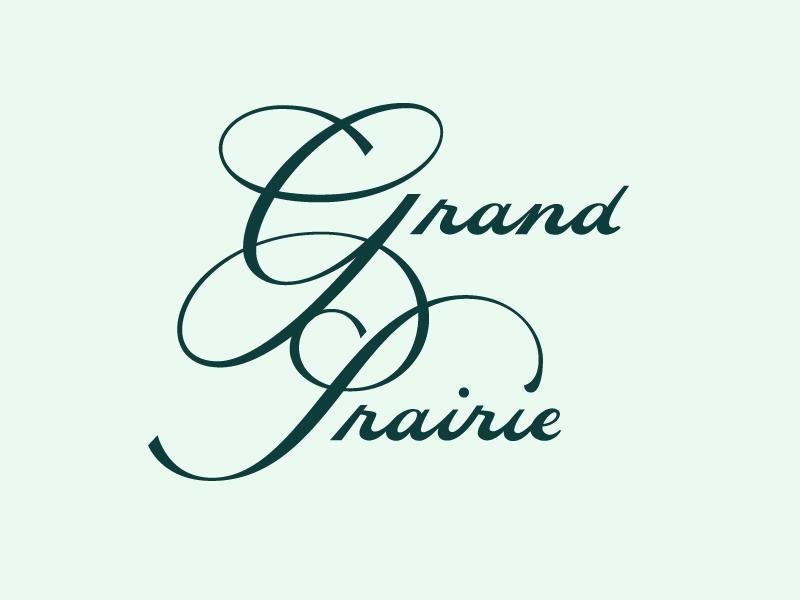 Grand Prairie Concept word mark logotype lettering ligature typography type script prairie grand